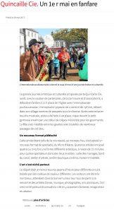 Quincaille Cie. Un 1er mai en fanfare - Huelgoat - LeTelegramme