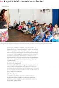 Art. Karyne Puech à la rencontre des écoliers - Poullaoue