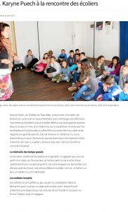 Art. Karyne Puech à la rencontre des écoliers – Poullaoue